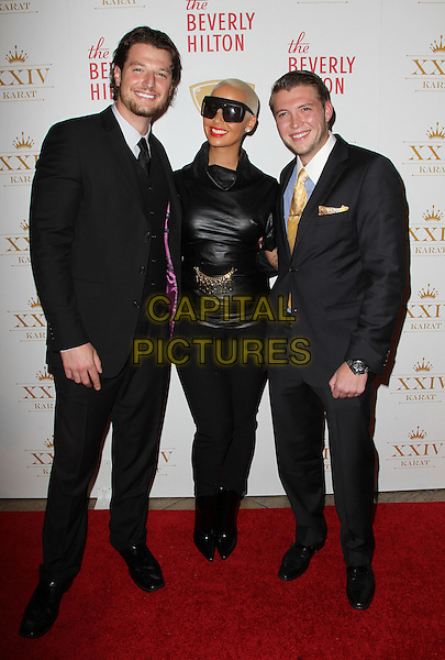 Beverly Hills, CA - October 16: Kegan Klein, Amber Rose, Nicholas Cowherd Attending The XXIV Karat Launch Party At The Beverly Hilton At The Beverly Hilton Hotel California on October 16, 2014.  <br /> CAP/MPI/RTNUPA<br /> &copy;RTNUPA/MediaPunch/Capital Pictures