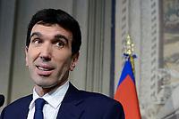 Roma, 12 Aprile 2018<br /> Partito Democratico<br /> Maurizio Martina.<br /> Secondo giro di Consultazioni per la formazione del Governo
