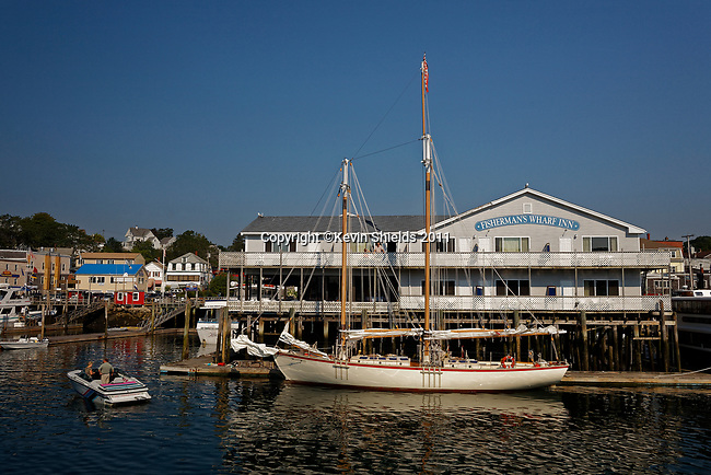 Schooner Eastwind at Fisherman's Wharf, Boothbay Harbor, Maine, USA