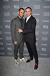 Jean-Georges d'Orazio (left) and Raf Simons arrive at the WSJ. Magazine 2017 Innovator Awards at The Museum of Modern Art in New York City, on November 1, 2017.
