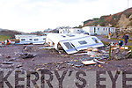 Some of the damage caused at Wavecrest Caravan site in Caherdaniel after Monday mornings High Tides and strong winds.