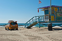 Venice Beach, Lifeguard Station, Rescue Truck,, Socal Beach, Lifeguard Stations, CA, Geometric, shapes, Lifeguard Towers,  Summer of Color exhibit, The flower, beauty, core design, elements, environment, symbol of joy, universal, youth, Seaside City, South Bay, Southern California