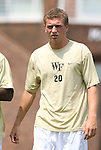 31 August 2008: Wake Forest's Danny Wenzel. The Wake Forest University Demon Deacons defeated the Florida International University Panthers 3-0 at Fetzer Field in Chapel Hill, North Carolina in an NCAA Division I Men's college soccer game.