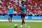 Joao Felix of Atletico de Madrid warms up before during La Liga match between Atletico de Madrid and SD Eibar at Wanda Metropolitano Stadium in Madrid, Spain.September 01, 2019. (ALTERPHOTOS/A. Perez Meca)