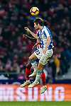 Esteban Felix Granero Molina of RCD Espanyol fights for the ball with Thomas Teye Partey of Atletico de Madrid during the La Liga 2018-19 match between Atletico de Madrid and RCD Espanyol at Wanda Metropolitano on December 22 2018 in Madrid, Spain. Photo by Diego Souto / Power Sport Images