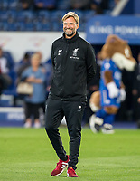 Liverpool Manager Jurgen Klopp ahead of the football league cup Carabao Cup 3rd round match between Leicester City and Liverpool at the King Power Stadium, Leicester, England on 19 September 2017. Photo by Andy Rowland.