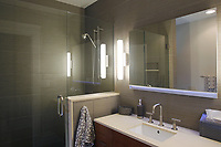 Jan. 20, 2014_San Diego_ California_USA_|   The guest bathroom in the remodel Point Loma home of Mark Dallezotte.  | _Mandatory Photo Credit: Photo by K.C. Alfred/UT San Diego/Copyright 2014 . . . .