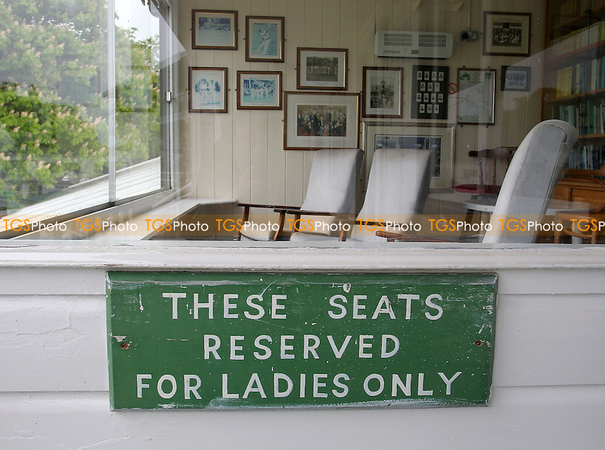 Seats reserved for Ladies Only are seen in the old pavilion at New Road - Worcestershire CCC vs Essex CCC - LV County Championship Division Two Cricket at New Road, Worcester - 29/05/13 - MANDATORY CREDIT: Gavin Ellis/TGSPHOTO - Self billing applies where appropriate - 0845 094 6026 - contact@tgsphoto.co.uk - NO UNPAID USE.