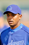 6 March 2006: Tony Abreu, infielder for the Los Angeles Dodgers, prior to a Spring Training game against the Washington Nationals. The Nationals and Dodgers played to a scoreless tie at Holeman Stadium, in Vero Beach Florida...Mandatory Photo Credit: Ed Wolfstein..