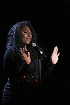 Danielle Brooks on stage at the Vineyard Theatre 2017 Gala at the Edison Ballroom on March 14, 2017 in New York City.