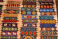 Huicholindian bead bracelets,  San Miguel de Allende, Mexico. San Miguel de Allende is a UNESCO World Heritage Site.