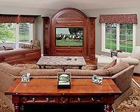 Living Room Built In TV
