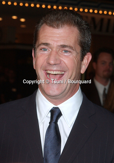 Mel Gibson posing at the premiere of We Were Soldiers at the Westwood Village Theatre in Los Angeles. February 25, 2002.