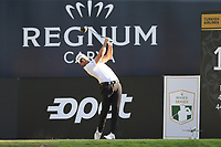 Adrian Otaegui (ESP) tees off the 18th tee during Sunday's Final Round of the 2018 Turkish Airlines Open hosted by Regnum Carya Golf &amp; Spa Resort, Antalya, Turkey. 4th November 2018.<br /> Picture: Eoin Clarke | Golffile<br /> <br /> <br /> All photos usage must carry mandatory copyright credit (&copy; Golffile | Eoin Clarke)