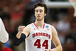 Wisconsin Badgers center Frank Kaminsky (44) during the fourth-round game in the NCAA college basketball tournament against the Baylor Bears Thursday, March 27, 2014 in Anaheim, California. The Badgers won 69-52. (Photo by David Stluka)