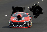Jul. 19, 2014; Morrison, CO, USA; NHRA pro stock driver V. Gaines during qualifying for the Mile High Nationals at Bandimere Speedway. Mandatory Credit: Mark J. Rebilas-