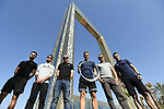 Top riders press conference for the Dubai Tour 2018 the Dubai Tour&rsquo;s 5th edition held at Dubai Frame in Zabeel Park, Dubai, United Arab Emirates. 5th February 2018.<br /> Picture: LaPresse/Fabio Ferrari | Cyclefile<br /> <br /> <br /> All photos usage must carry mandatory copyright credit (&copy; Cyclefile | LaPresse/Fabio Ferrari)