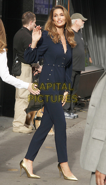 NEW YORK, NY - SEPTEMBER 29: Cindy Crawford at Good Morning America promoting her new book Becoming in New York City September 29, 2015. <br /> CAP/MPI/RW<br /> &copy;RW/MPI/Capital Pictures