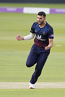 Saqib Mahmood of Lancashire CCC shows his delight t the big wicket of Ross Taylor during Middlesex vs Lancashire, Royal London One-Day Cup Cricket at Lord's Cricket Ground on 10th May 2019