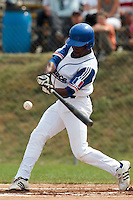 25 july 2010: Felix Brown of France hits the ball during France 6-1 victory over Czech Republic, in day 3 of the 2010 European Championship Seniors, in Neuenburg, Germany.