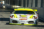 31 August 2007: The Peterson White Lightning Ferrari F430 GT driven by Peter Dumbreck and Dirk Mueller at the Detroit Sports Car Challenge presented by Bosch, Detroit, MI