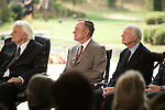 Thursday, May 31, Charlotte, North Carolina. Dedication ceremony for the new Billy Graham Library in Charlotte, North Carolina.. Billy Graham and former presidents George Bush and Jimmy Carter.