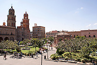 The Plaza de Armas in the city of San Luis de Potosi, Mexico