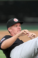 Vancouver Canadians pitcher Noah Syndergaard #19 warms up before game against the Everett Aquasox at Everett Memorial Stadium on August 8, 2011 in Everett,Washington. Everett defeated Vancouver 5-1.(Larry Goren/Four Seam Images)
