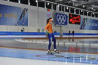 SCHAATSEN: SALT LAKE CITY: Utah Olympic Oval, 12-11-2013, Essent ISU World Cup, training, Antoinette de Jong (NED), ©foto Martin de Jong