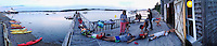 Isabel's Birthday Panorama, Chateau Bateau, Castine, Maine, US