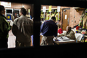 Poll-worker Ozzie Hackett at Raleigh Fire Station #11, Raleigh, North Carolina Election Day, November 6, 2012. .