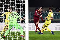 Edin Dzeko of AS Roma scores goal of 0-2 <br /> Verona 8-2-2019 Stadio Bentegodi Football Serie A 2018/2019 Chievo Verona - AS Roma <br /> Foto Image Sport / Insidefoto