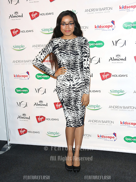 Dionne Bromfield arriving for the Specsavers Spectacle Wearer of the Year 2012 held at Battersea Power Station, London. 30/10/2012 Picture by: Henry Harris / Featureflash