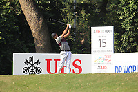 Julian Suri (USA) on the 15th tee during Round 4 of the UBS Hong Kong Open, at Hong Kong golf club, Fanling, Hong Kong. 26/11/2017<br /> Picture: Golffile | Thos Caffrey<br /> <br /> <br /> All photo usage must carry mandatory copyright credit     (&copy; Golffile | Thos Caffrey)