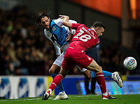 Blackburn Rovers' Danny Graham competing with Nottingham Forest's Jack Robinson (right) <br /> <br /> Photographer Andrew Kearns/CameraSport<br /> <br /> The EFL Sky Bet Championship - Blackburn Rovers v Nottingham Forest - Tuesday 1st October 2019  - Ewood Park - Blackburn<br /> <br /> World Copyright © 2019 CameraSport. All rights reserved. 43 Linden Ave. Countesthorpe. Leicester. England. LE8 5PG - Tel: +44 (0) 116 277 4147 - admin@camerasport.com - www.camerasport.com