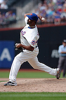 New York Mets pitcher Manny Acosta #46 during a game against the Milwakee Brewers at Citi Field on August 21, 2011 in Queens, NY.  Brewers defeated Mets 6-2.  Tomasso DeRosa/Four Seam Images