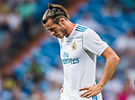 Gareth Bale of Real Madrid reacts during the Santiago Bernabeu Trophy 2017 match between Real Madrid and ACF Fiorentina at the Santiago Bernabeu Stadium on 23 August 2017 in Madrid, Spain. Photo by Diego Gonzalez / Power Sport Images