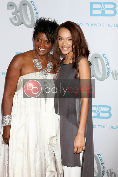 "Anna Maria Horsford, Reign Edwards<br /> at the ""The Bold and The Beautiful"" 30th Anniversary Party, Clifton's Downtown, Los Angeles, CA 03-18-17<br /> David Edwards/DailyCeleb.com 818-249-4998"