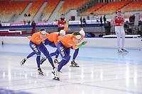 SPEEDSKATING: SOCHI: Adler Arena, 21-03-2013, Training, Sven Kramer (NED), Jan Blkhuijsen (NED), © Martin de Jong