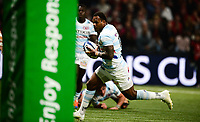 17th November 2019,  Paris La Défense Arena, Hauts-de-Seine, France; Champions Cup Rugby Union, Racing 92 versus Saracens;  Virimi Vakatawa (Racing ) on his way to scoring a try