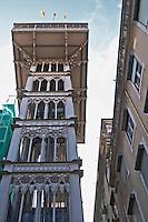 Elevator Elevador de Santa Justa. Lisbon, Portugal