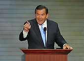 St. Paul, MN - September 4, 2008 -- Former Secretary for Homeland Security Tom Ridge speaks on day 4 of the 2008 Republican National Convention at the Xcel Energy Center in St. Paul, Minnesota on Thursday, September 4, 2008..Credit: Ron Sachs / CNP.(RESTRICTION: NO New York or New Jersey Newspapers or newspapers within a 75 mile radius of New York City)