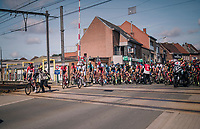 race re-started at a railroad crossing:<br /> the early breakaway group AND the peloton were forced to stop at a closed railroad crossing (which literally &quot;shutted down&quot; the escape attempt) <br /> <br /> 8th Primus Classic 2018 (1.HC)<br /> 1 Day Race: Brakel to Haacht (193km / BEL)