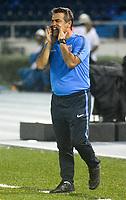 BARRANQUILLA - COLOMBIA, 26-04-2018: Pablo Bengoechea, técnico de Alianza Lima, durante partido entre Atlético Junior (Col) y Alianza Lima (PER), de la fase de grupos, grupo H, fecha 4, por la Copa Conmebol Libertadores 2018, jugado en el estadio Metropolitano Roberto Meléndez de la ciudad de Barranquilla. / Pablo Bengoechea, coach of Alianza Lima, during a match between Atletico Junior (Col) and Alianza Lima (PER), of the group stage, group H, 4th date for the Copa Conmebol Libertadores 2018 at the Metropolitano Roberto Melendez Stadium in Barranquilla city. Photo: VizzorImage  / Alfonso Cervantes / Cont.