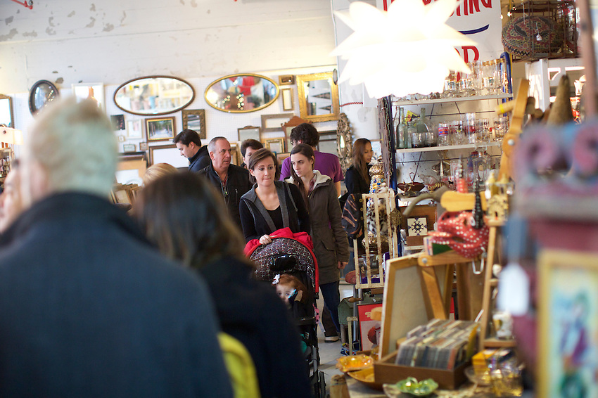 BROOKLYN, NY - JANUARY 17, 2016:  In November, The Brooklyn Flea and Smorgasburg moved to Industry City for the season. The markets are open there on Saturday and Sunday through March 26th, when they will return outdoors for the spring and summer. <br /> LOCATION: Industry City, 37th Street between 2nd and 3rd Avenues.<br /> CREDIT: Clay Williams for the New York Times.<br /> <br /> &copy; Clay Williams / claywilliamsphoto.com