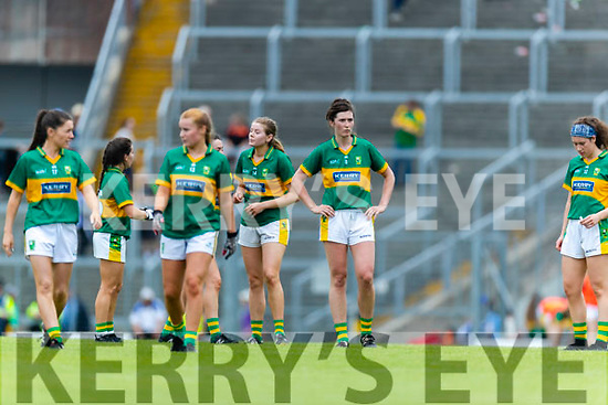 Kerry in action against  Waterford in the TG4 Munster Senior Ladies Football Championship semi-final match between Kerry and Waterford at Fitzgerald Stadium in Killarney on Sunday.