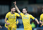 Ross County v St Johnstone&hellip;18.02.17     SPFL    Global Energy Stadium, Dingwall<br />Chris Kane celebrates scoring the winning goal for saints with Keith Watson<br />Picture by Graeme Hart.<br />Copyright Perthshire Picture Agency<br />Tel: 01738 623350  Mobile: 07990 594431