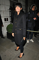 Claudia Winkleman at the LFW (Men's) a/w2018 GQ Dinner, Berners Tavern, The London Edition Hotel, Berners Street, London, England, UK, on Monday 08 January 2018.<br /> CAP/CAN<br /> &copy;CAN/Capital Pictures