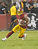Washington Redskins running back Chris Thompson (25) carries the ball during the third quarter against the Oakland Raiders at FedEx Field in Landover, Maryland on Sunday, September 24, 2017.  The Redskins won the game 27-10.<br /> Credit: Ron Sachs / CNP