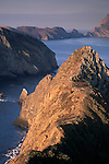 Morning light on steep coastal cliffs from Inspiration Point, Anacapa Island, Channel Islands National Park, California